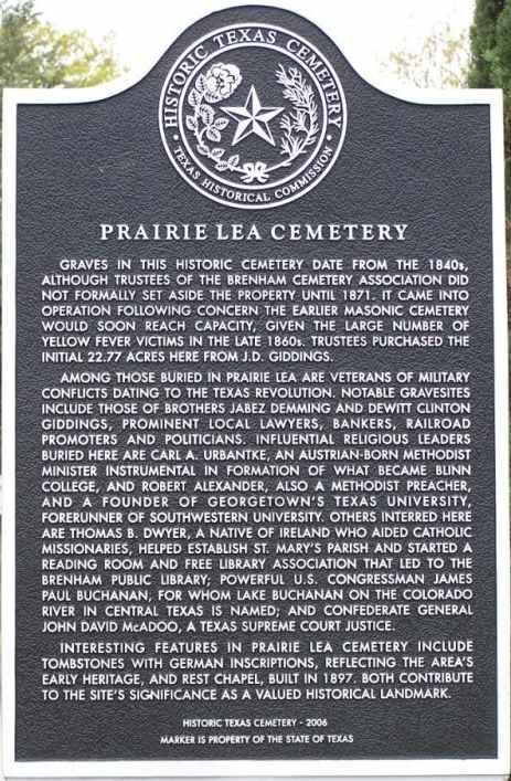 Prairie lea cemetery historical