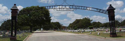 Prairie lea cemetery gates